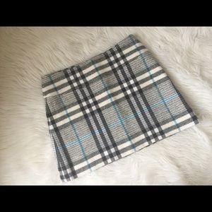 Burberry London plaid wool blend mini Skirt 6
